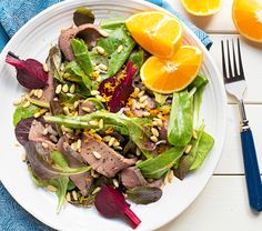 Roast Beef, Beet, & Romaine Salad -- Beets are a targeted nutrition food for H-Burn, and quick-cooking them in the microwave is such a time-saver. Get this delicious recipe from our newsletter.