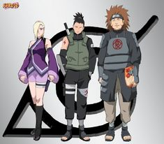 Since I drew a new Team Sasuke, I couldn't forget about Karin. Here is her new barrier squad with Izumo and Kotetsu. Gues she stayed in konoha after all
