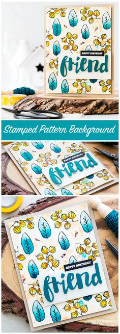 Using the Misti to stamp a patterned background. Mini Misti giveaway too! Find out more by clicking on the following link: http://limedoodledesign.com/2016/05/misti-may-nia/