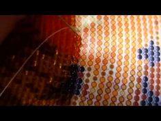 вышивка бисером в круговой технике - YouTube