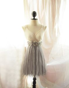 Dreamy Cream Misty Earl Gray Rainy Nostalgia Dusty Rosette Soft Heavenly Chiffon Romantic Marie Antoinette Dress