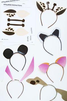 Free Printable Zoo Animal Ears Template and Activity