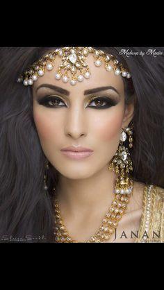 Arabic makeup and big hair