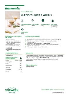 thermomix - Mleczny likier z whisky Whisky, Tupperware, Make It Simple, Public, Author, Names, How To Make, Magazines, Platform