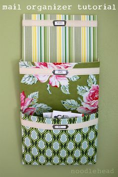 i love this mail organizer - make it yourself and choose whatever fabrics you want! :)
