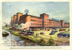 Vintage Postcard of the Continental Tire Plant in Hannover. #continental #continentaltire #tires #cartire #vintage #postcard #vintagepostcard #tireplant #hannover #germany