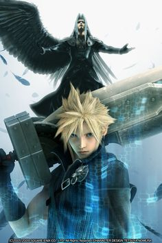 Cloud and Sephiroth from Final Fantasy VII: Advent Children