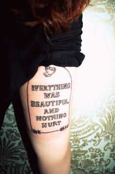 Slaughterhouse Five by Kurt Vonnegut. Loved this book and quote. Unsure of this display of it though La Tattoo, Tattoo You, Tattoo Quotes, Dope Tattoos, Tatoos, Slaughterhouse Five Quotes, Dumbest Tattoos, Believe Tattoos, Super Cool Stuff