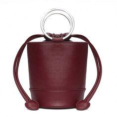 Burgundy Little Cylinder Shoulder Bag