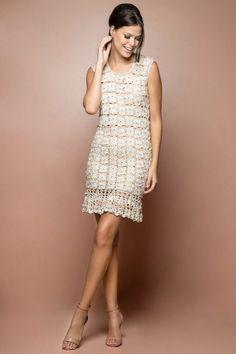 Cocoa Crochet Dress - Vanessa Montoro USA - vanessamontorolojausa
