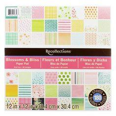 Neutrals Martha Stewart Crafts 12 by 12-Inch Paper Pad 42 Sheets