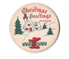 "Christmas Themed Santa /""Greetings/"" Milk Bottle Cap"