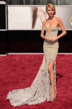 Brandi Glanville takes a risk at the 2013 Oscars.