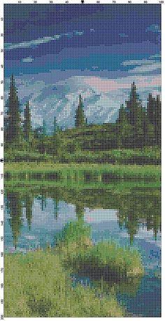 Cross Stitch Pattern Mount McKinley and by theelegantstitchery