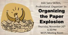 Learn some great organizing skills from Sara Skillen!