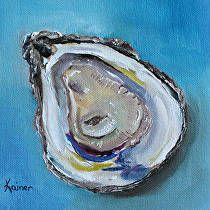 Juicy Oyster by Kristine Kainer Oil ~ 6 x 6