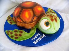 Seeing double here!!!!    Sea turtle cake order for twins!
