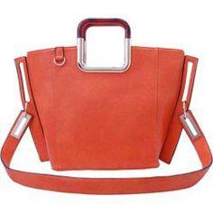 Really like this square orange bag. #handbags