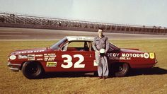 Bill Wimble with his ride for the 1962 Daytona 500...
