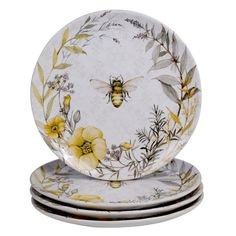 Bee Sweet is a charming ceramic dinnerware and serve ware collection from Certified International. Designed by Susan Winget, it features busy bees and flowers along with sweet sentiments and a unique 3-D beehive teapot. Beautifully detailed with a medley of vibrant hues. Color: Multicolored.