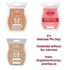 Celebrate #nationalpieday without the calories! www.AngelinasAromas.scentsy.us #pie #sweets #noguilt #wax #fragrance #scent #Scentsy