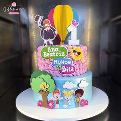 Birthday Cake, Birthday Parties, Drip Cakes, Baby Party, Baby Hacks, Cupcakes, Alice, Bolo Minnie, Maria Clara
