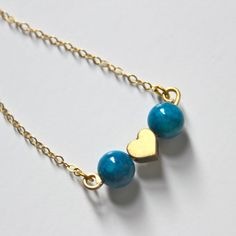 Take my heart and please don't break it... Michelle Blue Valentine Necklace by LikeMindedRebels on Etsy, $40.00