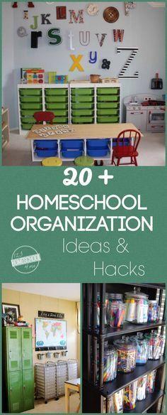 20 plus homeschool organization ideas and hacks