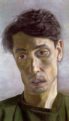 Portrait of John Minton by Lucian Freud