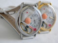 Nurses Watch with Gauze Bandage Cap Aspirin di SunnyRiverCreations, $38,00