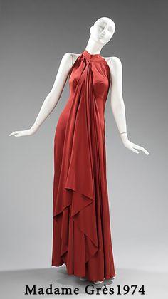 ретро платье американская пройма  Madame Grès 1974