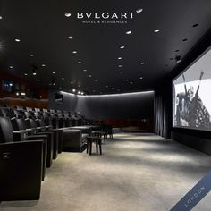 Dolby Digital 3D and Dolby 8.2 surround sound, at Bulgari Hotel & Residences, London.  #bulgarihotels #cinema