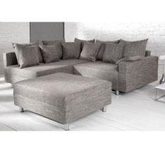 Canapé d'angle modulable Loft gris Couch, Sofa Design, Decoration, Designer, Living Room, Furniture, Home Decor, Environment, House