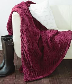 Effortless Cherry Wine. If you're looking for a relaxing knit, cast the Effortless Cherry Wine Afghan onto your needles.
