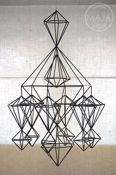 Metal Frame Pendant Lampshade That goes Perfectly with your Minimal Decor. Metal Frame Pendant Lampshade Inspiration is a part of our furniture design Straw Decorations, Handmade Christmas Decorations, Handmade Ornaments, Christmas Crafts, Xmas, Straw Sculpture, Fish Sculpture, Geometric Box, Geometric Shapes
