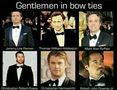 They can pull it off. Not sure why everyone but Chris Hemsworth's middle name is there.