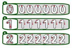 Tiras para imprimir, plastifi-car y practicar con rotulador la direccionalidad de los números del 0 al 9.   GRAFÍAS 012   GRAFÍAS 345   G...