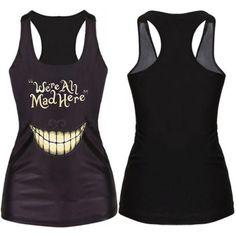 Women-Print-Tank-Tops-Vest-Blouse-Gothic-Clubwear-Cami-singlet-Racerback-T-Shirt