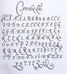 Jean de Beauchesne master Penman A French Huguenot Refugee in London mid Published copy books Calligraphy Letters Alphabet, How To Write Calligraphy, Calligraphy Handwriting, Typography Letters, Typography Logo, Cursive, Penmanship, Calligraphy Ink, Graffiti Lettering Fonts