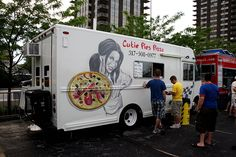 Cutie Pies Pizza Truck in Indianapolis, Indiana.