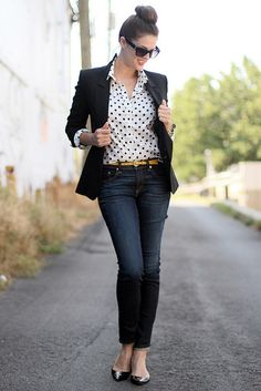 Polka Dots and Blazer