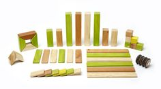 42 Piece Tegu Magnetic Wooden Block Set, Jungle.