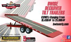 BWise Deckover Tilt Trailers offer the versatility you need to get it done. Tilt Trailer, Getting Things Done, Trailers, How To Get, Tops, Get Stuff Done, Pendants, Shell Tops
