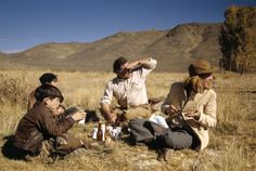 Capa in Color 1941 • Sun Valley, Idaho, USA - Ernest Hemingway with his sons and wife Martha GELLHORN