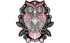 Sugar Owl Patch | Embroidered Patches