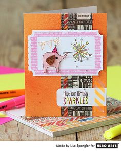 hero arts fancy frames hello | Simon Says Stamp Blog!: A Sparkle Birthday with Lisa Spangler!