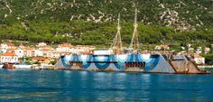 Cres Cres has old rusty ships in the harbour Ships, Table Decorations, Home Decor, Boats, Decoration Home, Boating, Room Decor, Dinner Table Decorations, Ship