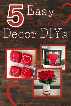 Check out this compilation of 5 easy tutorials you can follow to bring the loving spirit of Valentine's Day into your home. #valentinesday #valentinesdaydecor #valentinediy #valentinecrafts #easyvalentinedecor #valentinegarland #letterblocks #confettishakersign #homedecor #valentinedecor #heartdecor #floralvase Valentine Crafts For Kids, Valentine Day Love, Valentine Decorations, Valentines Diy, Office Decorations, Favorite Holiday, Activities For Kids, Epic Kids, Kids Holidays