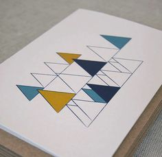 Geometric Christmas Cards par Karte Design Fabrik - Journal du Design