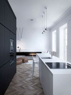 'Minimal Interior Design Inspiration' is a biweekly showcase of some of the most perfectly minimal interior design examples that we've found around the web - Interior Design Examples, Interior Design Kitchen, Interior Design Inspiration, Design Ideas, Design Trends, Design Layouts, Design Projects, Inspiration Boards, Kitchen Designs